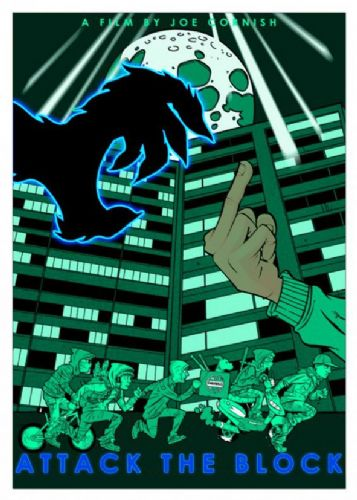 2010's Movie - ATTACK THE BLOCK - FINGER POSTER canvas print - self adhesive poster - photo print